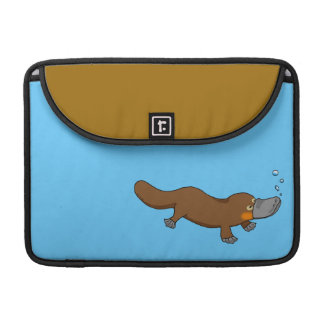 Cute swimming duck-billed platypus sleeve for MacBook pro