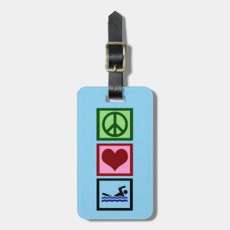 Cute Swimming Luggage Tag