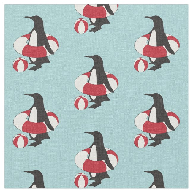 Cute Swimming Penguin Pattern Kids Summer Fun