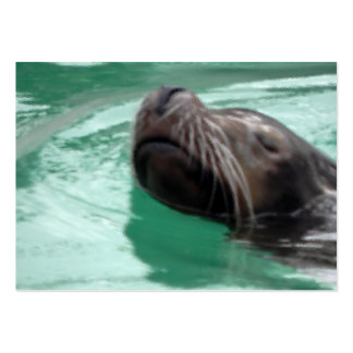 Cute Swimming Sea Lion Large Business Card