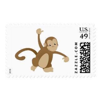 Cute Swinging Monkey Postage