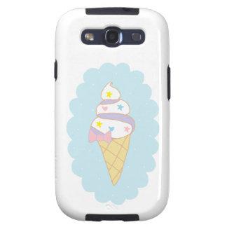 Cute Swirl Ice Cream Cone Galaxy SIII Cases