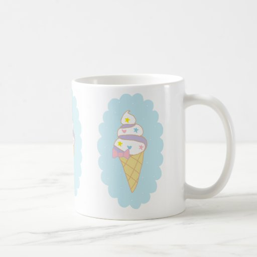 Cute Swirl Ice Cream Cone Classic White Coffee Mug