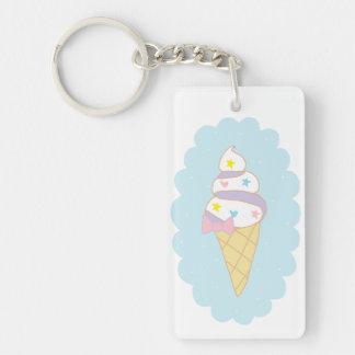 Cute Swirl Ice Cream Cone Keychain