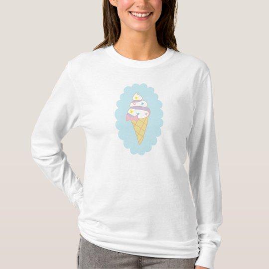 Cute Swirl Ice Cream Cone T-Shirt