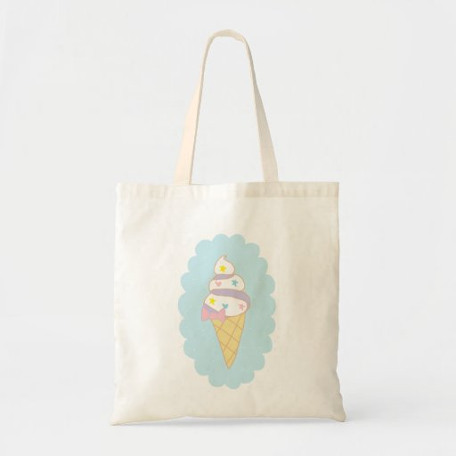 Cute Swirl Ice Cream Cone Tote Bag