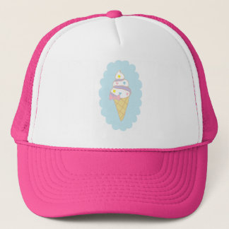Cute Swirl Ice Cream Cone Trucker Hat