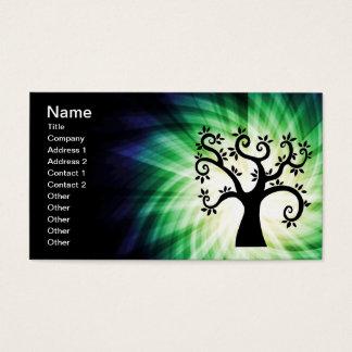 Cute Swirly Tree Business Card