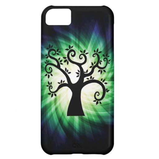 Cute Swirly Tree iPhone 5C Cases