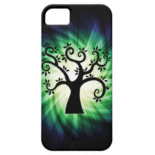 Cute Swirly Tree iPhone 5 Cover
