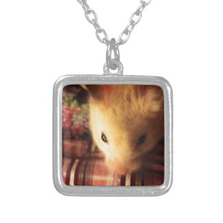Cute Syrian Hamster Personalized Necklace