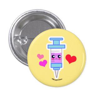 Cute Syringe Pinback Pinback Button