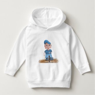 Cute T-Ball Player Toddler Pullover Hoodie