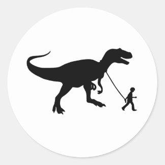 Cute T-rex Pet Classic Round Sticker