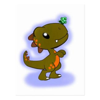 Cute T-Rex Postcard