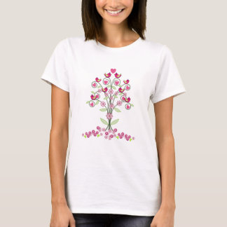 Cute T-shirt with Blossoming tree & Love Birds