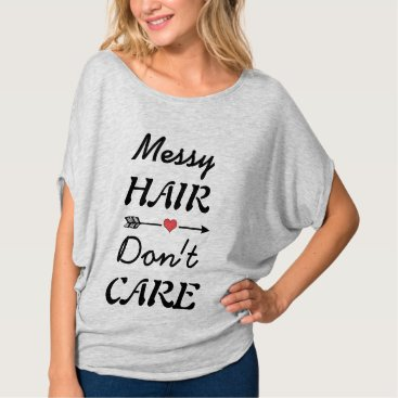 Beach Themed Cute t-shirt with messy hair quote.