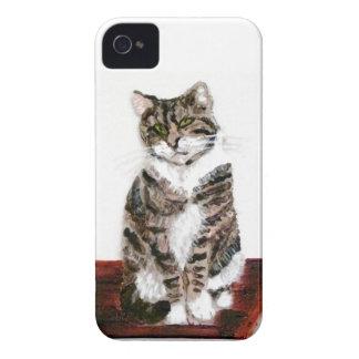 Cute Tabby Cat Art Case-Mate iPhone 4 Case