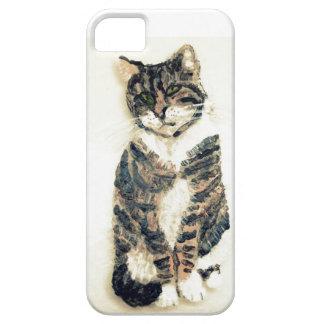 Cute Tabby Cat Art iPhone 5 Cases