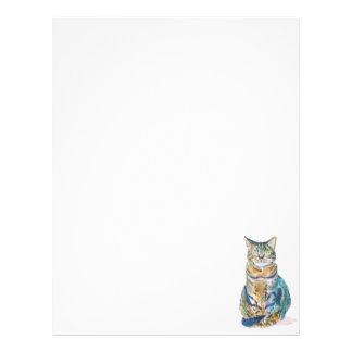 Cute Tabby Cat Letterhead