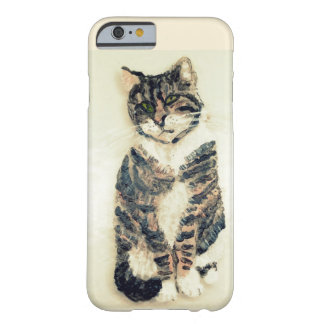 Cute Tabby Cat Painting Barely There iPhone 6 Case