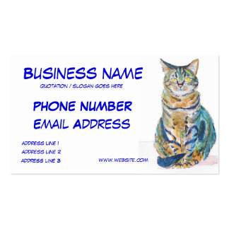 Cute Tabby Cat Personalize Business Cards