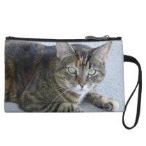 Cute Tabby Cat Photo Wristlet Wallet