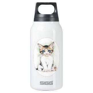 Cute Tabby Kitten Insulated Water Bottle