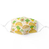 Cute Taco Fiesta Adult Cloth Face Mask