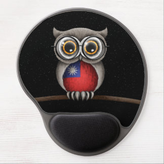 Cute Taiwanese Flag Owl Wearing Glasses Gel Mouse Pads