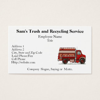 Cute Tank Truck Business Card
