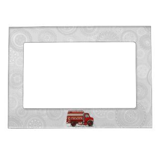 Cute Tank Truck Magnetic Photo Frames