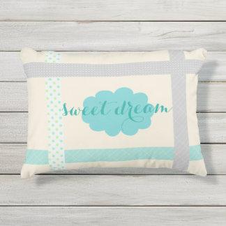 Cute Tape It Up Sweet Dream Mint Cloud Outdoor Pillow