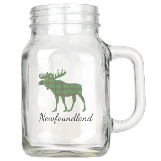 Cute Tartan moose Newfoundland     jar mug