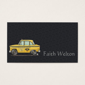 Cute Taxi Cab Business Card