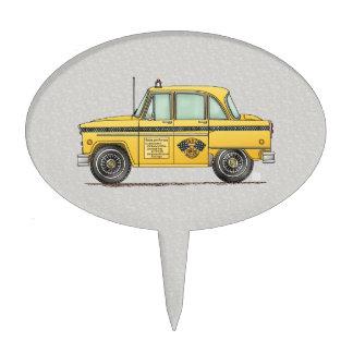 Cute Taxi Cab Cake Topper