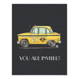 Cute Taxi Cab Card