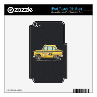 Cute Taxi Cab Decal For iPod Touch 4G