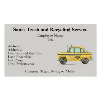 Cute Taxi Cab Double-Sided Standard Business Cards (Pack Of 100)