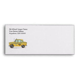 Cute Taxi Cab Envelope