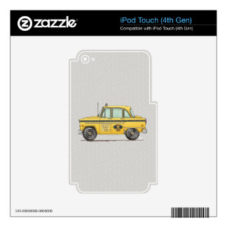 Cute Taxi Cab iPod Touch 4G Decal