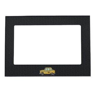 Cute Taxi Cab Magnetic Photo Frame