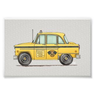 Cute Taxi Cab Photo Print