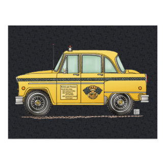 Cute Taxi Cab Postcard