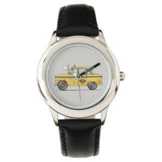 Cute Taxi Cab Wrist Watch