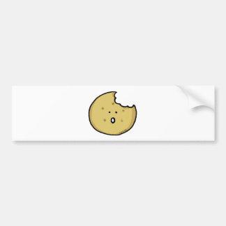 Cute tea biscuit car bumper sticker