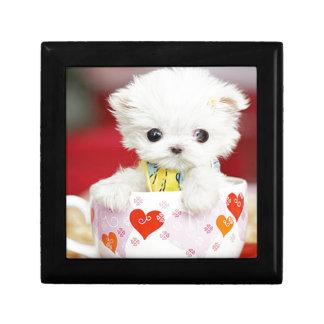 cute tea cup puppy jewelry box