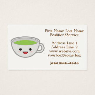 Cute Tea Shop Business Card