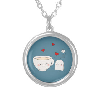 Cute Tea Silver Plated Necklace