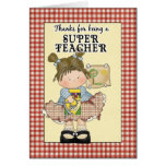 Cute Teacher Appreciation Greeting Card